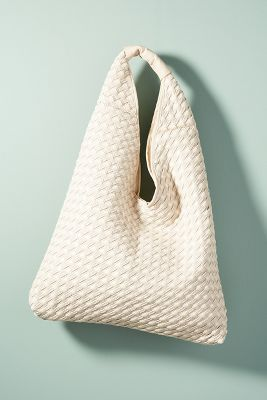 Henrietta Woven Shoulder Bag  -    BLACK