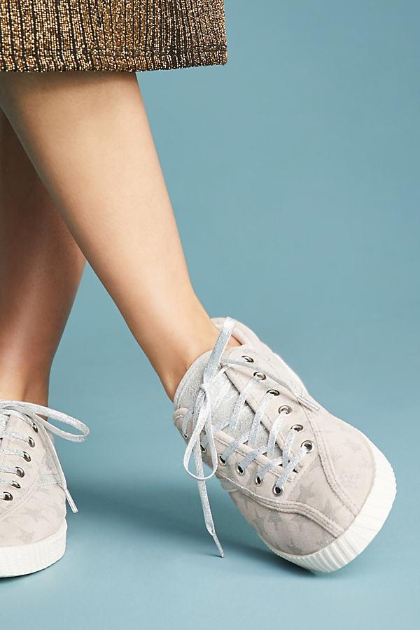 Tretorn Nylite Galaxy Star Sneakers - Grey Motif, Size Eu 37