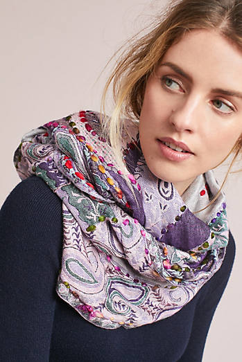 Blanket-Stitched Infinity Scarf