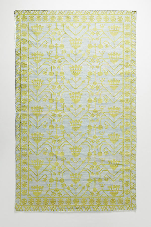 Emerson Rug Swatch - Green Motif, Size Swatch