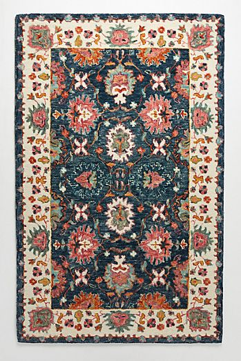 Blue And Gold Rug Runner