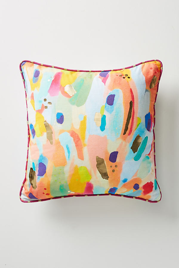 Lillian Farag Painterly Cushion - A/s, Size 18