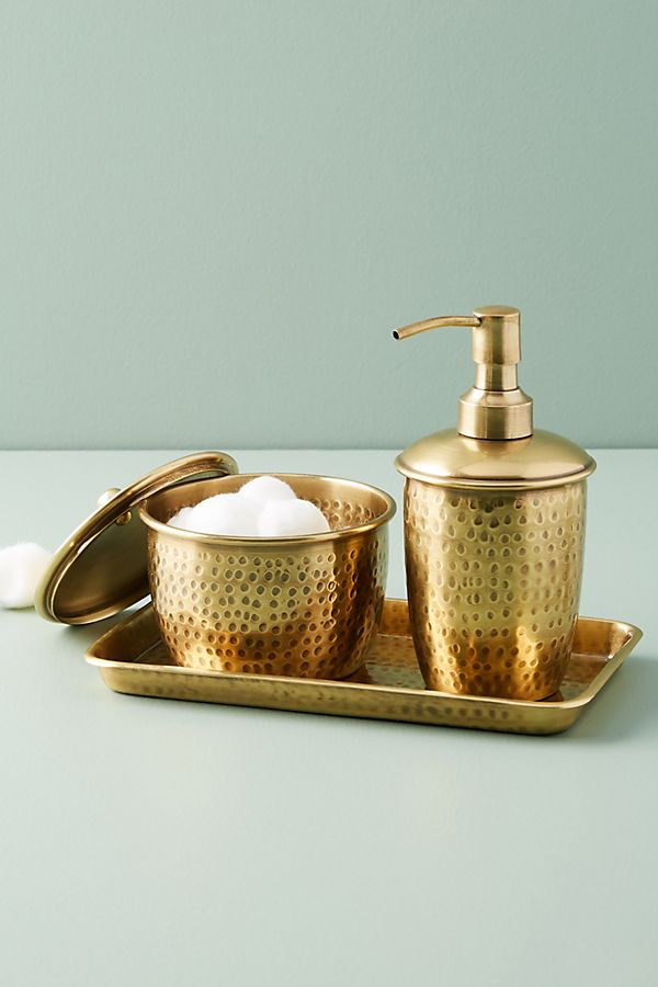Slide View: 7: Hammered Brass Bath Collection