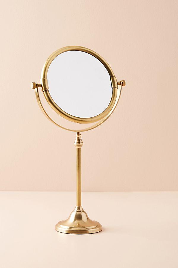 Slide View: 1: Golden Glass Bath Mirror