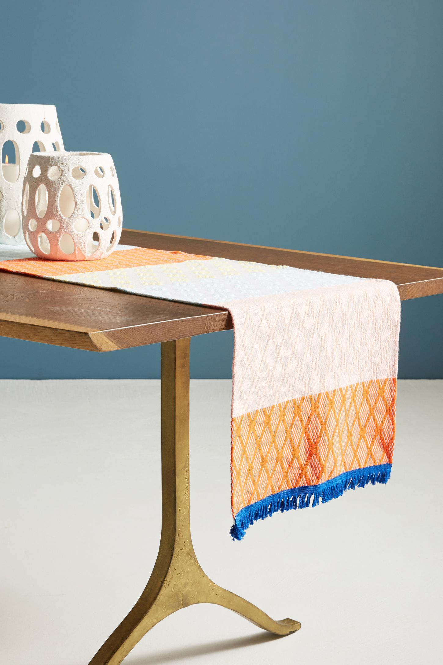 Table linens table runners cloth napkins anthropologie hermine van dijck jacquard table runner negle Image collections