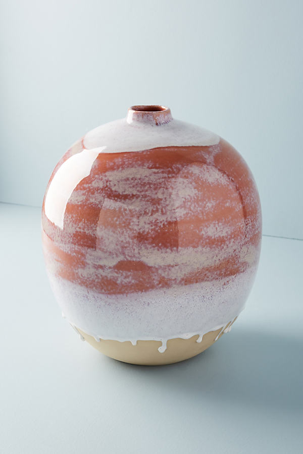 Apricot Vase - Peach, Size L