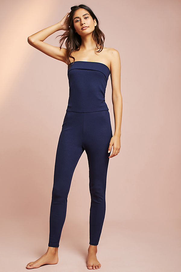 Eziah Fold-Over Convertible Jumpsuit - Navy, Size S
