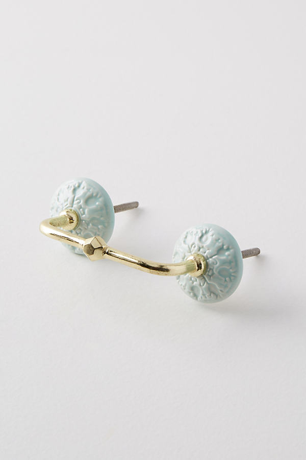 Jeweled Ceramic Handle - Sky