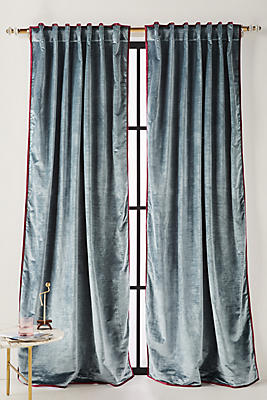 Slide View: 1: Petra Velvet Curtain