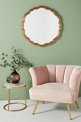Slide View: 1: Colette Round Mirror