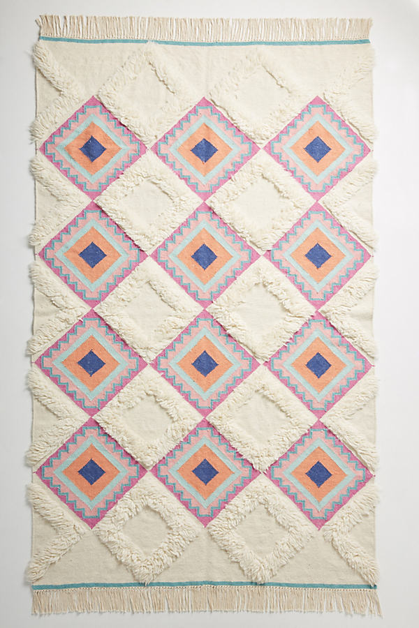 Textured Rhombus Rug - A/s, Size 5X8