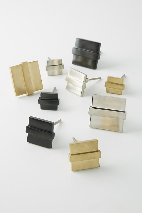 Square Aerin Knob - Grey, Size Xs