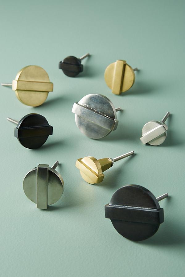 Round Aerin Knob - Grey, Size Xs