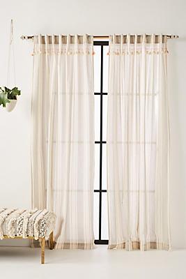 Slide View: 1: Tasseled Ginny Curtain