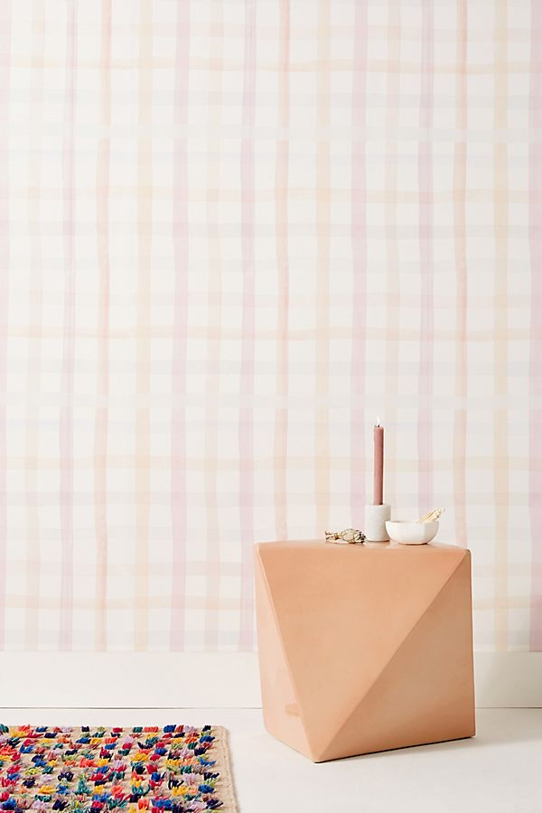 Slide View: 1: Maria Gingham Wallpaper