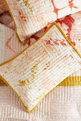 Dyed Patchwork Shams by Anthropologie