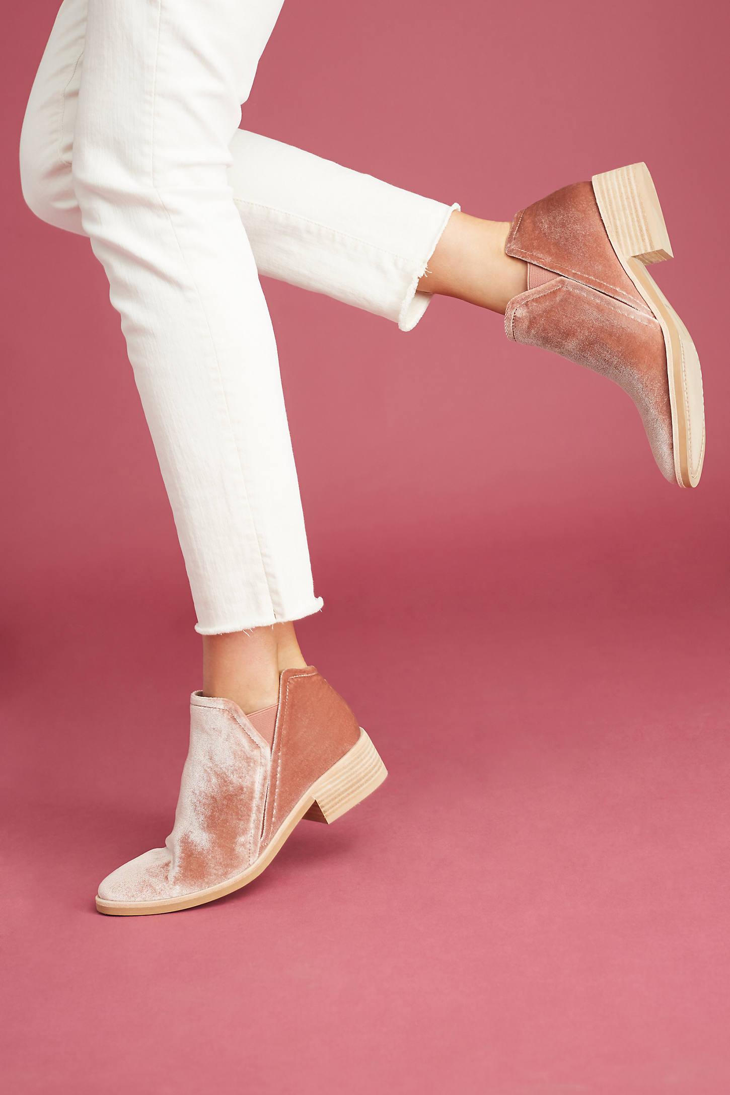 Dolce Vita Tay Velvet Ankle Boots
