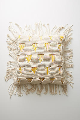 Slide View: 1: Fringed Agnes Floor Pillow