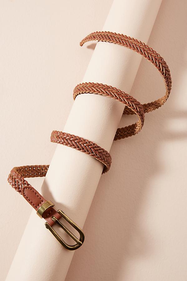 Asha Braided Belt - Wine, Size L