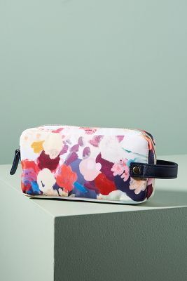 Floral Overlay Cosmetic Pouch  -    ROSE