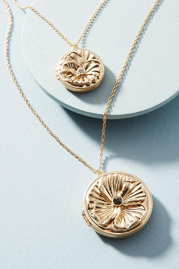Ophelia Double Medallion Pendant Necklace - Gold
