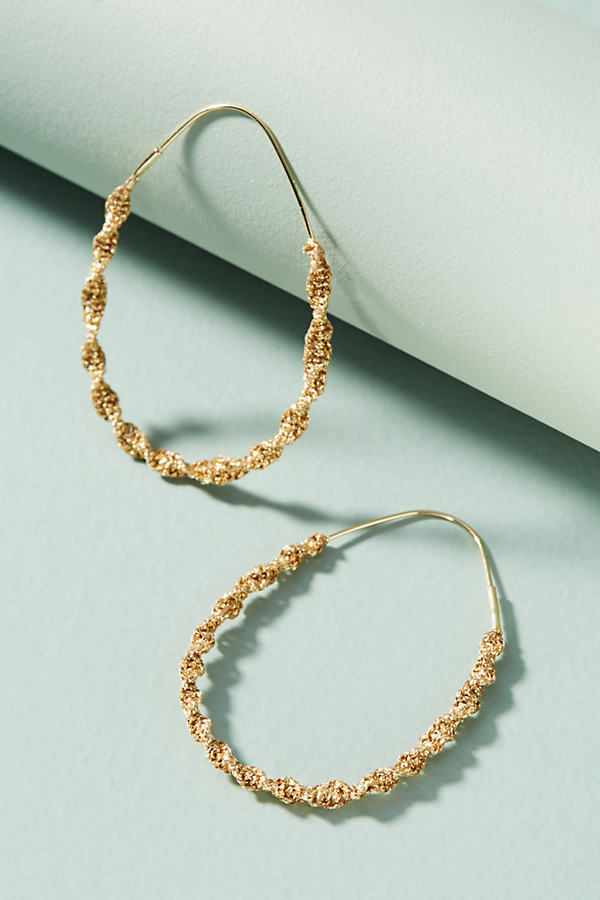 Akim Coiled Hoop Earrings - Gold