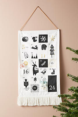 Slide View: 1: Hanging Advent Calendar
