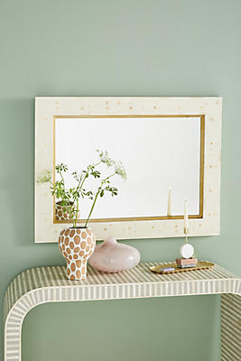 Slide View: 1: Modern Inlay Rectangular Mirror