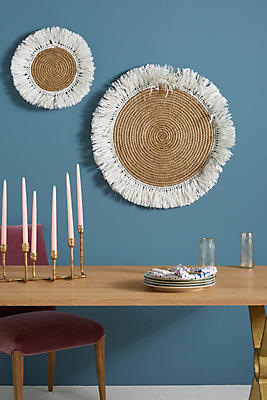 Slide View: 6: Fringed Basket Wall Art