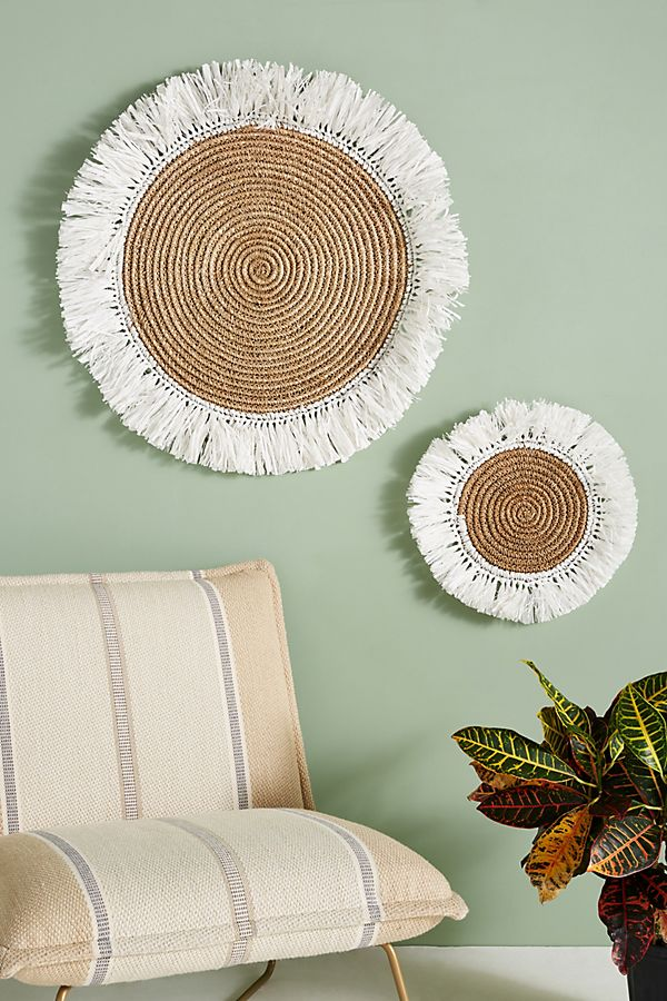 Fringed Basket Wall Art Anthropologie