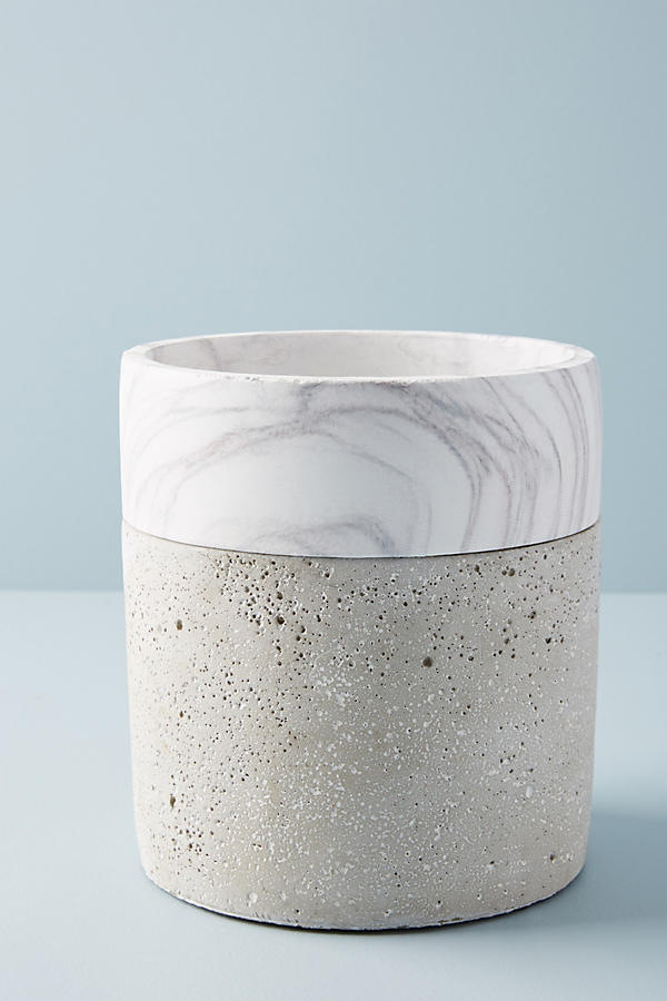 Slide View: 4: Marbled Cement Pot