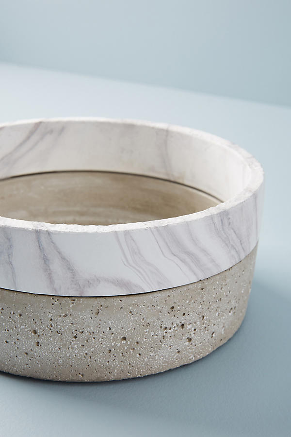 Slide View: 7: Marbled Cement Pot