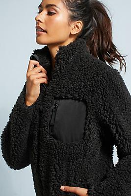 Slide View: 1: Cynthia Rowley Zip-Up Fleece