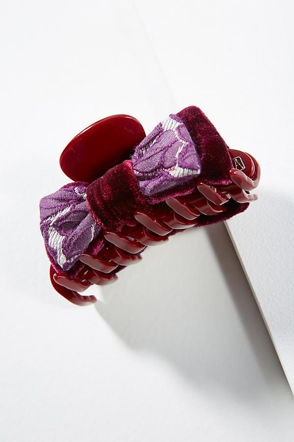 Brocade bow hair clip anthropologie slide view 1 brocade bow hair clip urmus Choice Image