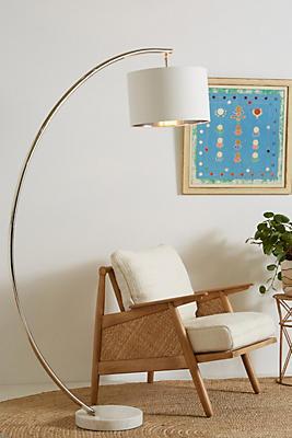 Slide View: 1: Demi-Arche Floor Lamp
