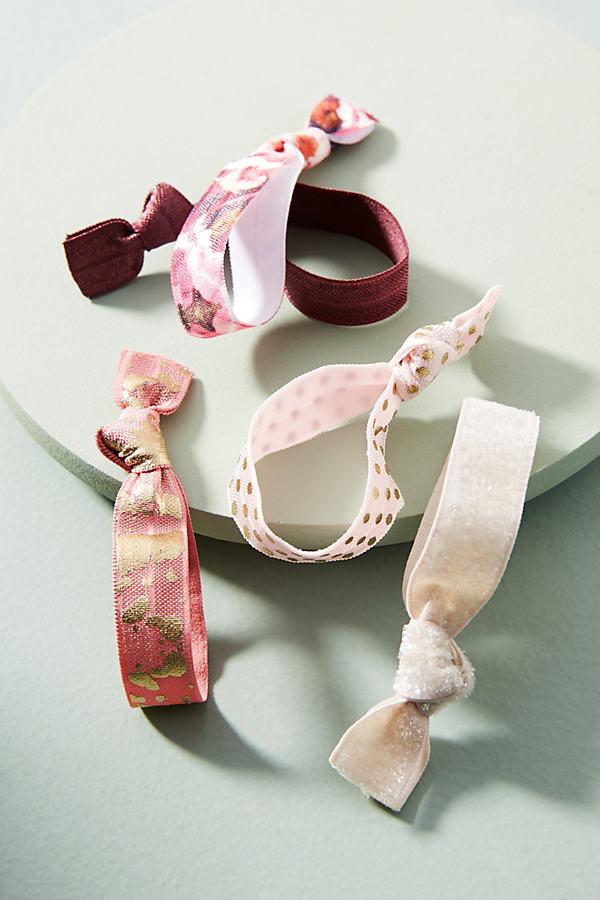 Preppy Hair Tie Set - Rose