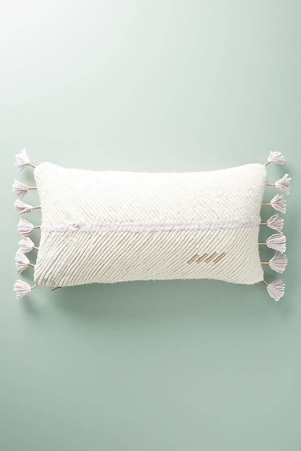 Embroidered Wilma Cushion - Lavender, Size Rectangle
