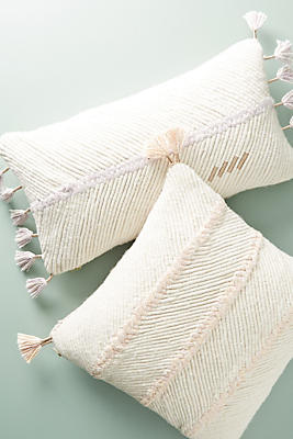 Slide View: 1: Embroidered Wilma Pillow