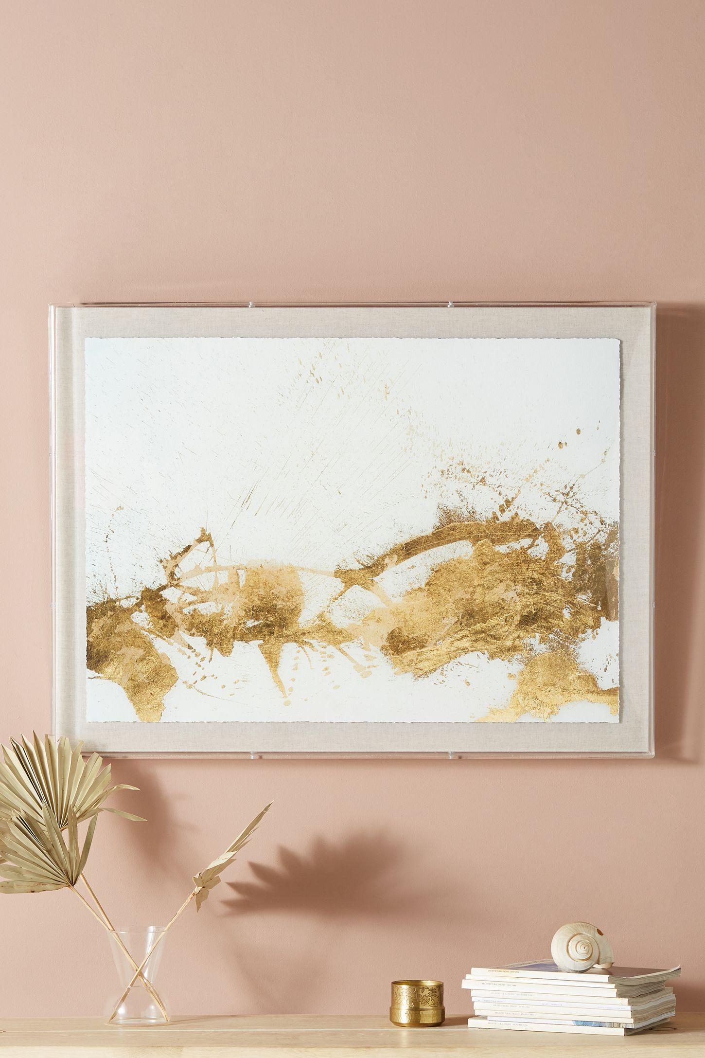 Gold Wall Art Gold  Wall Art Wall Mirrors & Wall Décor  Anthropologie