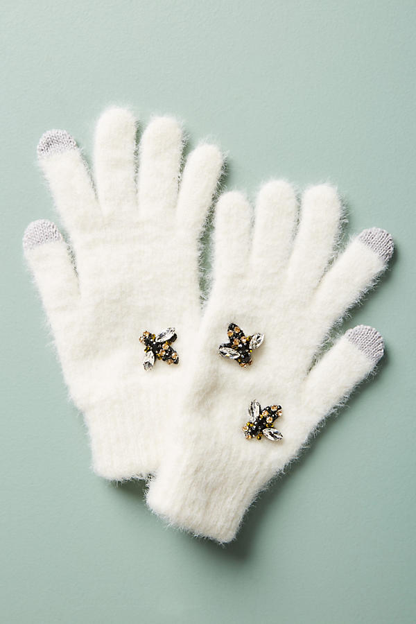 Bee Embellished Gloves