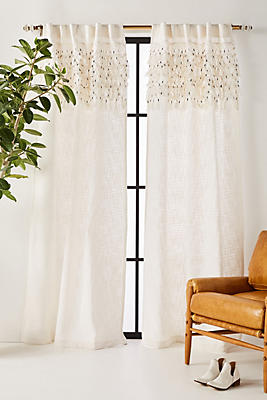 Slide View: 1: Macrame Tasseled Curtain
