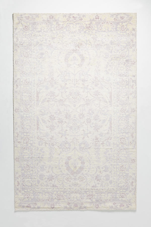 Hand-Knotted Talia Rug Swatch - Lavender, Size Swatch