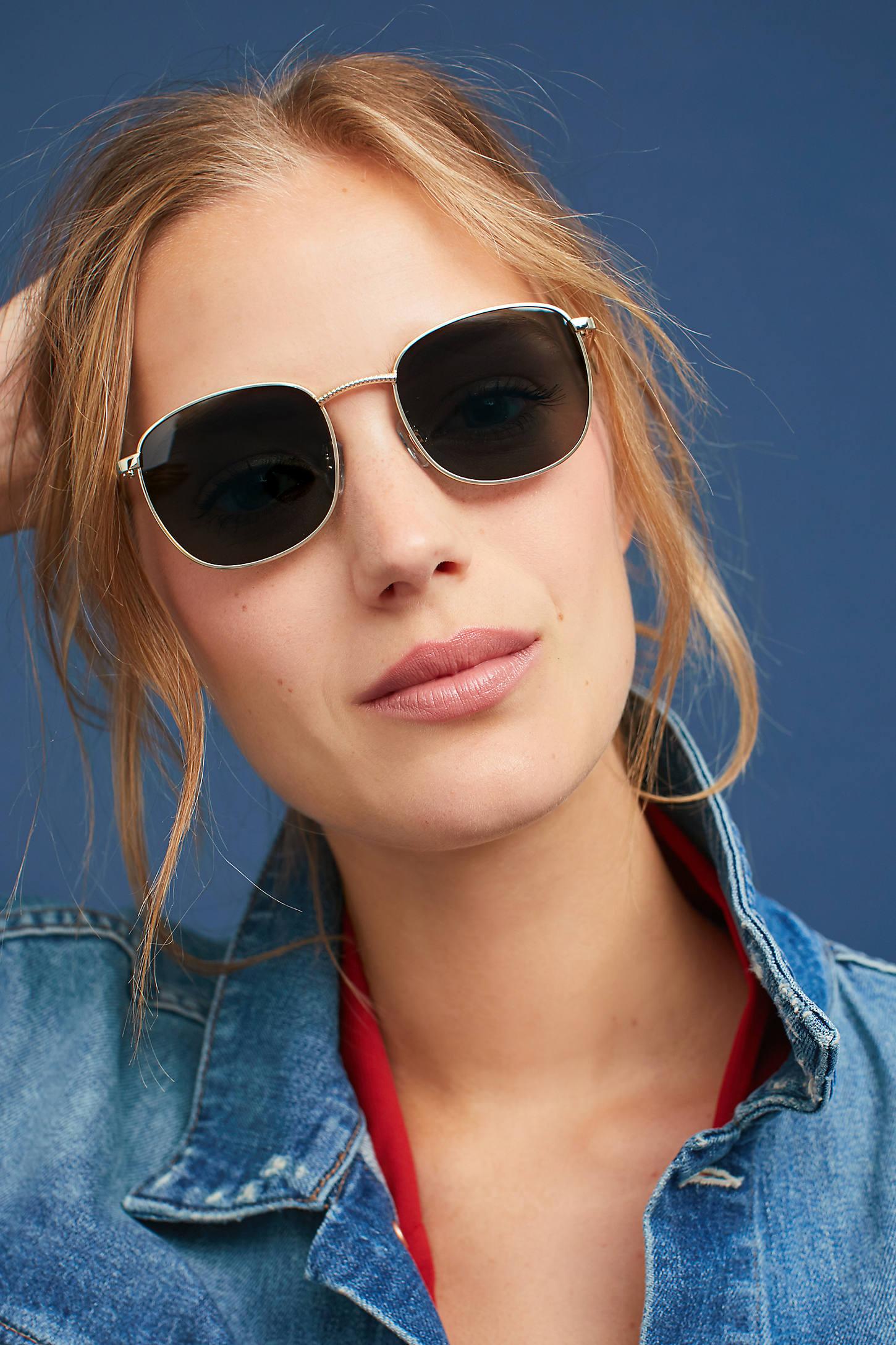 Le Specs Neptune Round Sunglasses