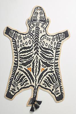 Slide View: 1: Hand-Embroidered Safari Rug