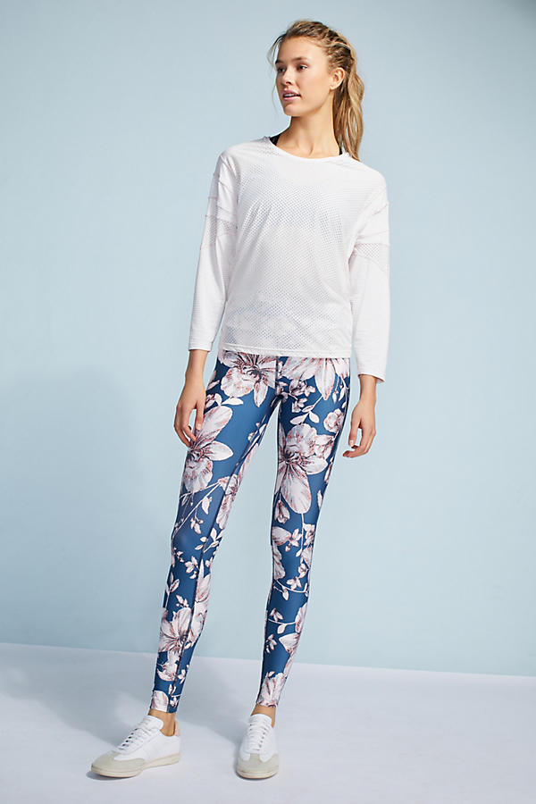 Slide View: 5: Floral High-Waisted Leggings