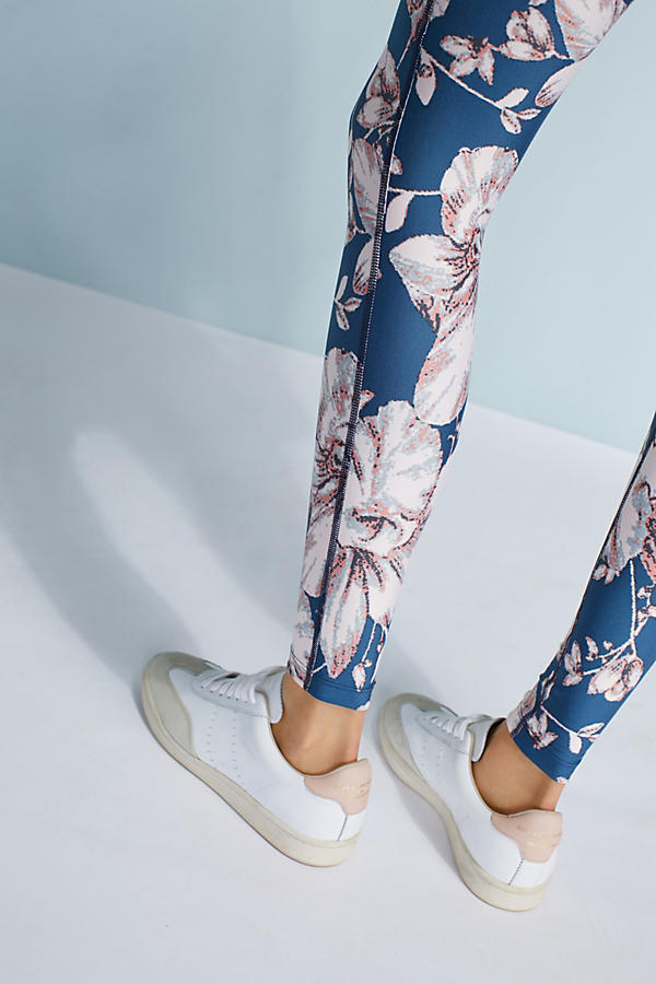 Slide View: 1: Floral High-Waisted Leggings