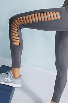 Slide View: 1: Lattice Cutout Leggings