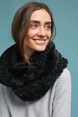 Slide View: 1: Mixed Faux Fur Infinity Scarf