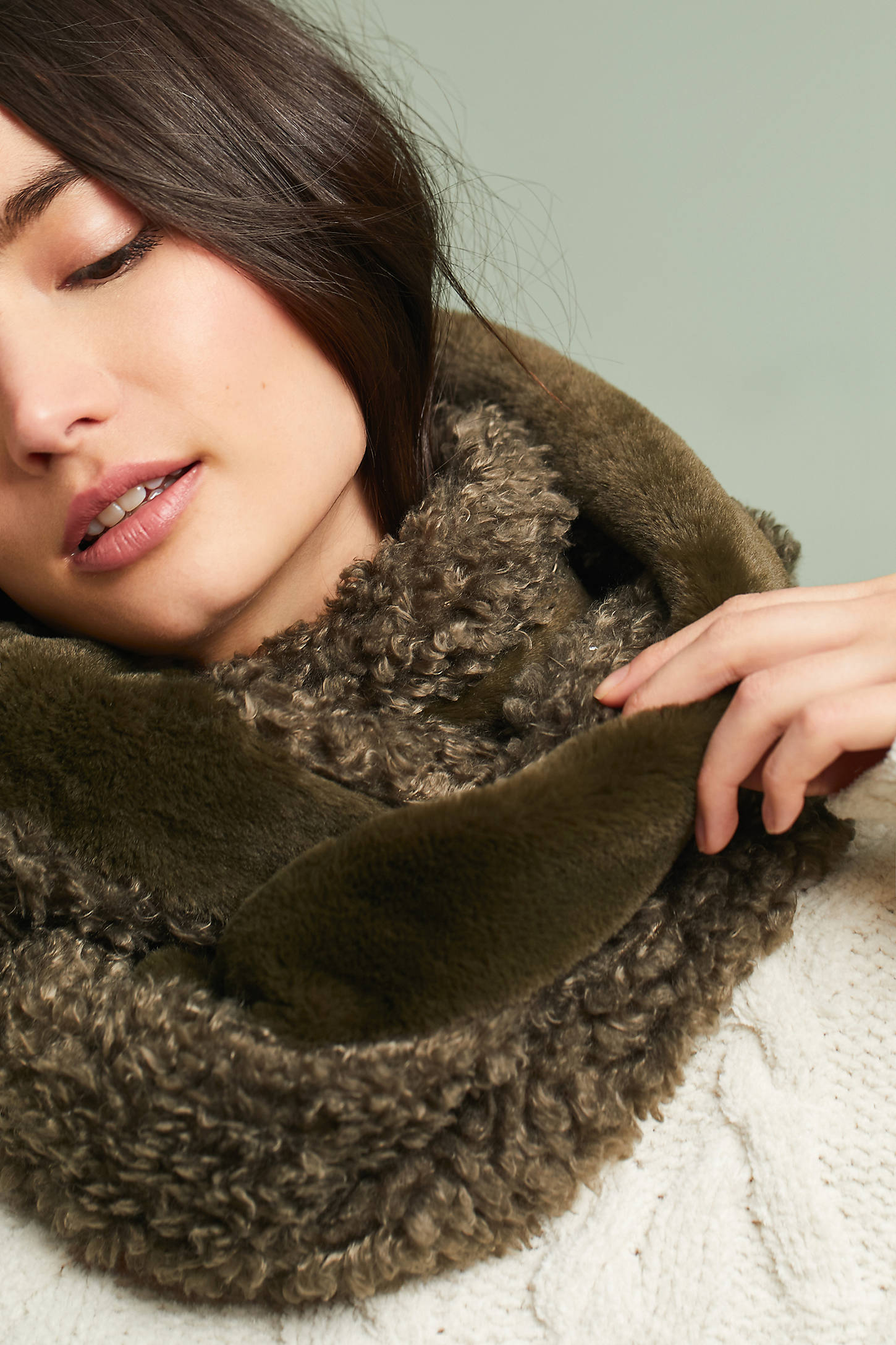 Mixed Faux Fur Infinity Scarf