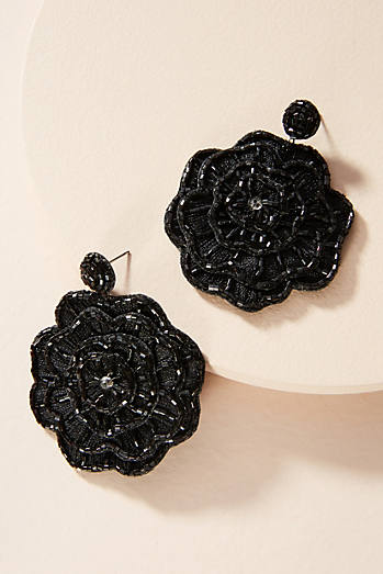 Blooming Rose Drop Earrings